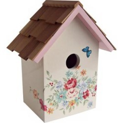 Hand-Painted Red Cedar Top Pastel Bouquet Cream Birdhouse (T3232) found on Bargain Bro Philippines from Lamps Plus for $44.99