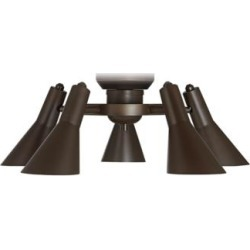 Retro Oil-Rubbed Bronze 5-Light LED Ceiling Fan Light Kit (47E83) found on Bargain Bro Philippines from Lamps Plus for $140.00