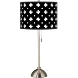 Crossroads Giclee Brushed Nickel Table Lamp (139C0) found on Bargain Bro from Lamps Plus for USD $75.99