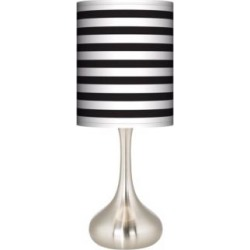 Black Horizontal Stripe Giclee Droplet Table Lamp (27R14) found on Bargain Bro India from Lamps Plus for $89.99