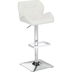 Boulton White Faux Leather Adjustable Swivel Bar Stool (5C834) found on Bargain Bro India from Lamps Plus for $179.99
