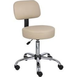 Boss Caressoft Beige Medical/Drafting Stool (4X963) found on Bargain Bro India from Lamps Plus for $114.99