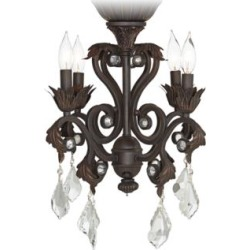 Crystal Beaded Oil-Rubbed Bronze 4-Light LED Light Kit (59K20) found on Bargain Bro Philippines from Lamps Plus for $180.00