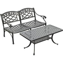 Sedona 2-Piece Charcoal Outdoor Conversation Seating Set (7K019)