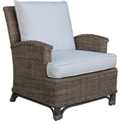 Panama Jack Exuma Cushioned Kubu Gray Wicker Lounge Chair (7V131) found on Bargain Bro India from Lamps Plus for $579.00