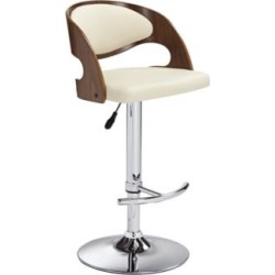 Malibu Cream Faux Leather Adjustable Swivel Bar Stool (8F146) found on Bargain Bro India from Lamps Plus for $169.99