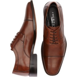 J. Murphy by Johnston & Murphy Novick Brown Cap Toe Lace Up Shoes found on Bargain Bro Philippines from menswearhouse.com for $104.99