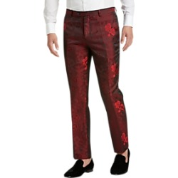 Paisley & Gray Slim Fit Suit Separates Formal Pants Red Floral Jacquard found on MODAPINS from menswearhouse.com for USD $99.99