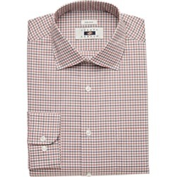 Joseph Abboud Rust Gingham Dress Shirt found on MODAPINS from menswearhouse.com for USD $44.99