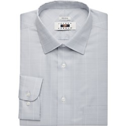 Joseph Abboud Light Gray Plaid Dress Shirt found on MODAPINS from menswearhouse.com for USD $44.99