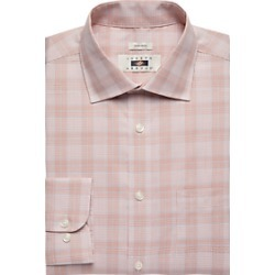 Joseph Abboud Rust Plaid Dress Shirt found on MODAPINS from menswearhouse.com for USD $44.99