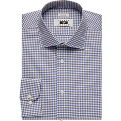 Joseph Abboud Brown & Blue Gingham Dress Shirt found on MODAPINS from menswearhouse.com for USD $44.99