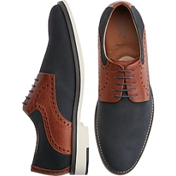 Johnston & Murphy Reedy Navy Saddle Lace Ups found on Bargain Bro Philippines from menswearhouse.com for $97.99
