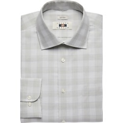 Joseph Abboud Olive Plaid Dress Shirt found on MODAPINS from menswearhouse.com for USD $44.99