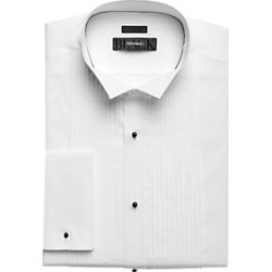 BLACK by Vera Wang Pleated Formal Shirt White found on MODAPINS from menswearhouse.com for USD $44.99