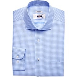 Joseph Abboud Blue Check Dress Shirt found on MODAPINS from menswearhouse.com for USD $44.99