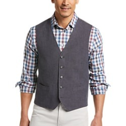 Joseph Abboud Navy Linen Modern Fit Vest found on MODAPINS from menswearhouse.com for USD $49.99