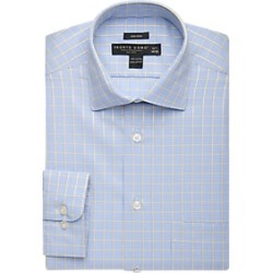 Pronto Uomo Yellow & Blue Check Dress Shirt found on MODAPINS from menswearhouse.com for USD $39.99