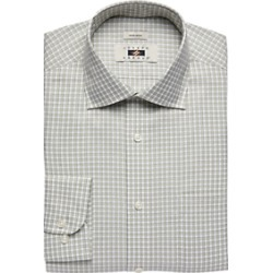 Joseph Abboud Olive Check Dress Shirt found on MODAPINS from menswearhouse.com for USD $44.99