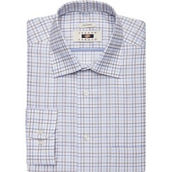 Joseph Abboud Blue & Brown Grid Dress Shirt found on MODAPINS from menswearhouse.com for USD $44.99