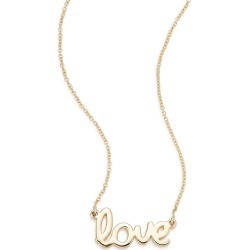 Saks Fifth Avenue Women's 14K Yellow Gold Love Necklace found on Bargain Bro India from Saks Fifth Avenue OFF 5TH for $278.00