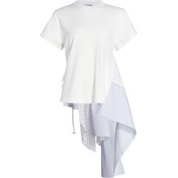 Monse Women's Eyelet Panel T-Shirt - White Multi - Size XS found on MODAPINS from Saks Fifth Avenue for USD $890.00