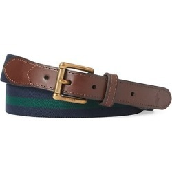 Stripe & Leather Belt found on Bargain Bro from Saks Fifth Avenue AU for USD $60.84