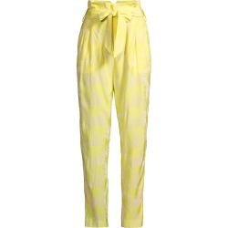 Equipment Women's Joele Cropped Pants - Green Shine Yellow - Size 4 found on MODAPINS from Saks Fifth Avenue for USD $139.50