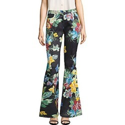 Alexis Women's Kamilla Floral-Print Flare Pants - Calipso Black - Size Medium found on MODAPINS from Saks Fifth Avenue for USD $170.49