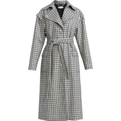 Altuzarra Women's Fisher Plaid Trench Coat - Black White - Size 38 (6) found on MODAPINS from Saks Fifth Avenue for USD $898.50