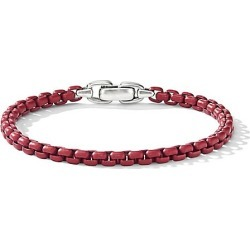 David Yurman Men's Chain Box-Link Bracelet - Burgundy - Size M found on MODAPINS from Saks Fifth Avenue for USD $395.00