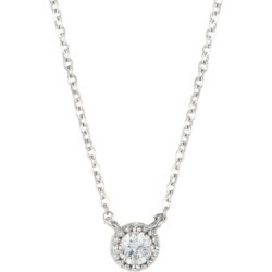 Lilliana Milgrain 18K White Gold & Diamond Pendant Necklace found on Bargain Bro Philippines from Saks Fifth Avenue Canada for $933.10