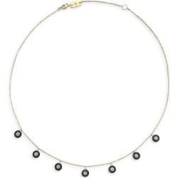 Ippolita Women's Carnevale Stardust 18K Yellow, Black Ceramic & Diamond 7-Stone Necklace - Gold found on Bargain Bro from Saks Fifth Avenue for USD $2,808.20