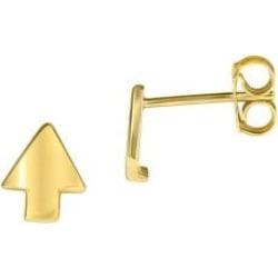 Boutons d'oreilles en or jaune 10 ct en forme de flèche