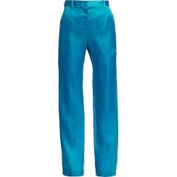 Helmut Lang Women's Straight-Leg Silk Trousers - Topaz - Size 8 found on MODAPINS from Saks Fifth Avenue for USD $725.00