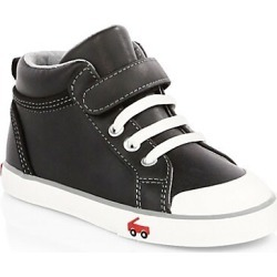 See Kai Run Kid's Peyton Leather High-Top Sneakers - Black - Size 5 (Baby) found on Bargain Bro India from Saks Fifth Avenue for $52.00
