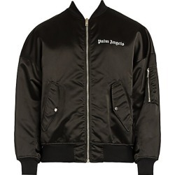 Palm Angels Men's Logo Bomber Jacket - Black White - Size Medium found on MODAPINS from Saks Fifth Avenue for USD $1075.00