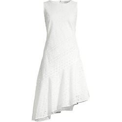 Donna Karan New York Women's Eyelet Asymetrical Sheath Dress - Ivory - Size 6 found on MODAPINS from Saks Fifth Avenue for USD $148.00