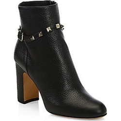 Valentino Garavani Women's Rockstud Leather Ankle Boots - Black - Size 36.5 (6.5) found on Bargain Bro Philippines from Saks Fifth Avenue for $1245.00