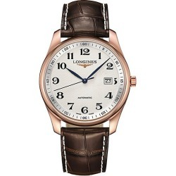 Longines Men's Master Collection 18K Rose Gold Alligator-Strap Watch - Silver found on MODAPINS from Saks Fifth Avenue for USD $5900.00