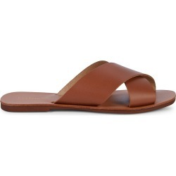 Saks Fifth Avenue Made in Italy Leather Slip-On Sandals - Goiaba Pink - Size 10 found on Bargain Bro from Saks Fifth Avenue OFF 5TH for USD $37.99