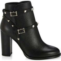 Rockstud Pebbled Leather Booties found on Bargain Bro India from Saks Fifth Avenue Canada for $1438.99
