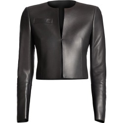 Akris Women's Hasso Leather Jacket - Black - Size 14 found on MODAPINS from Saks Fifth Avenue for USD $3990.00