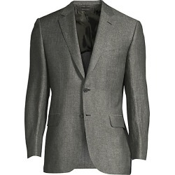 Brioni Men's Herringbone Linen-Blend Jacket - Olive Green - Size 56 (46) R found on MODAPINS from Saks Fifth Avenue for USD $2186.25