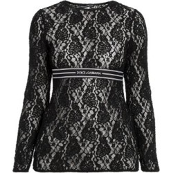 Logo Stripe Lace Top found on Bargain Bro India from Saks Fifth Avenue AU for $723.80
