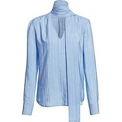 Altuzarra Women's Visage Stretch-Silk Bow Blouse - Flax Flower - Size 44 (12) found on MODAPINS from Saks Fifth Avenue for USD $950.00