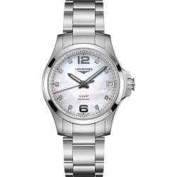 Longines Men's Conquest V.H.P. Classic Stainless Steel Bracelet Watch - Mother Of Pearl found on MODAPINS from Saks Fifth Avenue for USD $1450.00