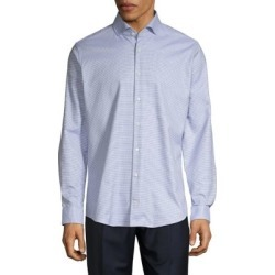 Slim-Fit Micro Check Shirt found on GamingScroll.com from The Bay for $71.20
