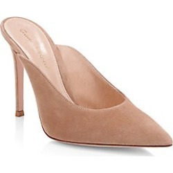 Gianvito Rossi Women's Fanny Suede Point-Toe Mules - Tan - Size 38 (8) found on Bargain Bro India from Saks Fifth Avenue for $387.00