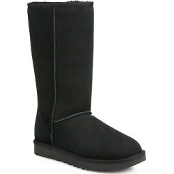 UGG Women's Classic Tall II Shearling-Lined Suede Boots - Black - Size 9 found on Bargain Bro India from Saks Fifth Avenue for $200.00